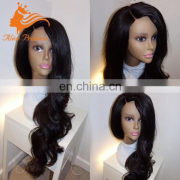 100 Brazilian Virgin Hair Full Lace Wig Side Part Body Wave Remy Human Hair Silk Base Full Lace Wig For Black Women