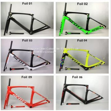 scott frame carbon fiber road foil frame Di2 Mechanical racing bike carbon road frame+fork+seatpost+headset bicycle accessories