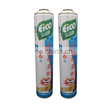 Empty aerosol spray cans for Insecticide and empty butane canister