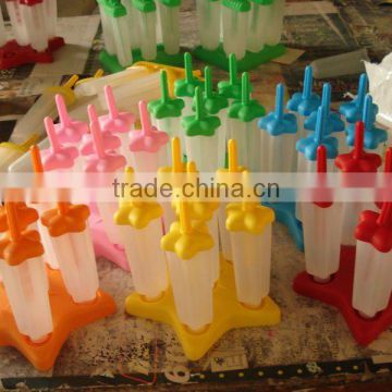 6 in 1 plastic star popsicle ice mould big
