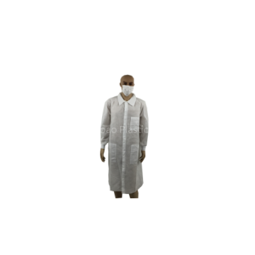 Disposable non woven lab coat and lab gown