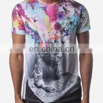 good quality sublimation unique design 3D effect tshirt