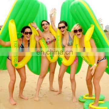 2016 best selling inflatable thong, inflatable slipper mattress, inflatable sandal