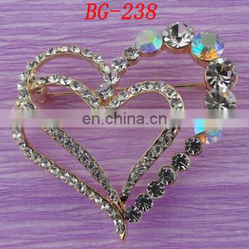 100%QC Bailange wholesale plating rhinestone costume jewelry pins brooches for evening dress