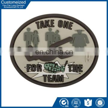 Wholesale customized embossed military rubber patch