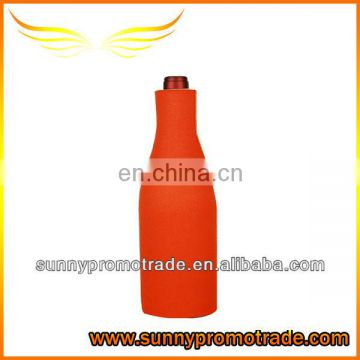 orange neoprene beer bottle can holder