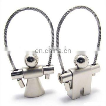 Zinc Alloy OEM Couple Lover Keychain