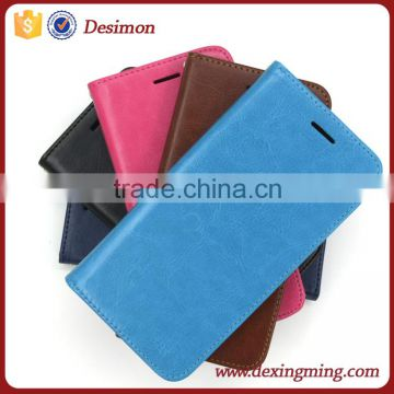 custom card slot Book style leather case mobile accessories for htc desire 826