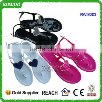 wholesale cheap ladies2016 plastic slipper fashion pvc sandals