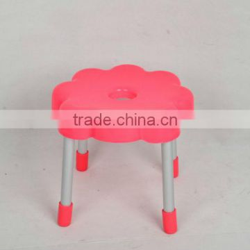 flower shape kids plastic chairs with chrome metal leg