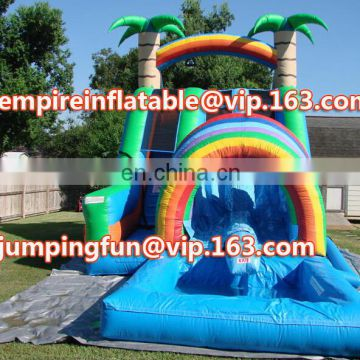 Fantastic inflatable jungle tree medium slide with pool ID-SLM017