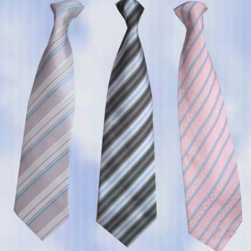 Solid Colors Silver Mens Silk Necktie High Stitches Adjustable