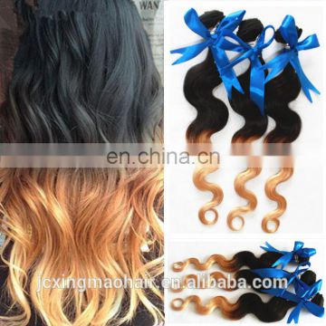 cheap virgin brazilian hair ombre hair extension , body wave virgin brazilian hair extension