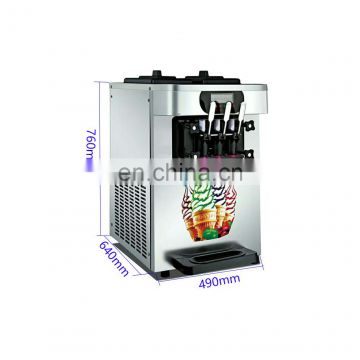 two refrigeration cylinders commecrial soft serve ice cream vending machine