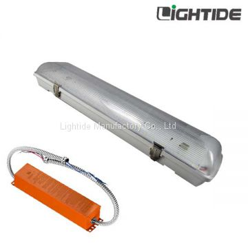 20W 2ft Linear led Vapor proof Light Emergency Backup, Ni-MH 90min. 100-277vac, 5yrs Warranty