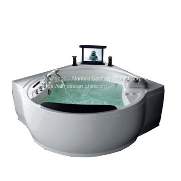 1-2person Selling the best quality cost-effective products luxury whirlpool hot tub massage bathtub with pop-up TV