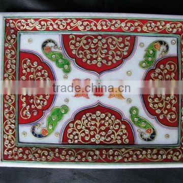 Marble decorative tray, hand made marble serving tray, unique serving trays, arab serving trays, food tray