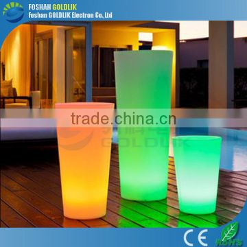 Rechargeable Lithium Battery Power Outdoor LED Pot Lights