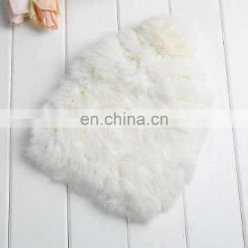 Fashion rabbit fur hats factory wholesale women winter weaven fur hats