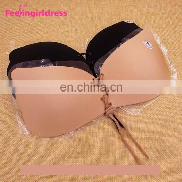 Stylish Women Self Adhesive Back And Nude Invisible Bra Push Up