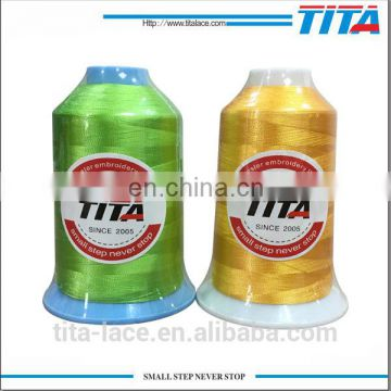 TITA 120D/2 5000y polyester embroidery thread dope dyed low price