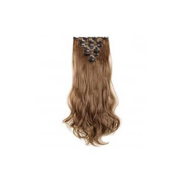 Grade 6A Reusable Brown Wash Synthetic Hair Extensions