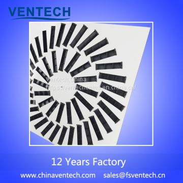 aluminum adjustable blades swirl air diffuser China supplier