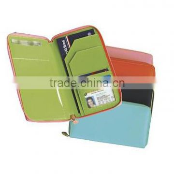 Wholesale long travel passport wallet with zipper around