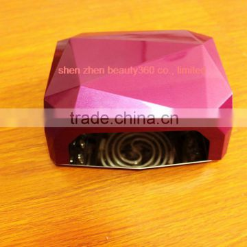 36w uv nail lamp Professional Diamond Shaped, universal CCFL & LED curing uv light ultraviolet lamp to bake loca glue