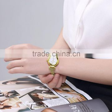 Fashion lady wristwatches circle ladies watch
