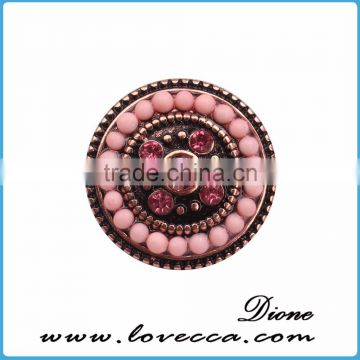 Fashion Crystal Button,Fashion Crystal Snap Button,Push seed beeds Snap Button