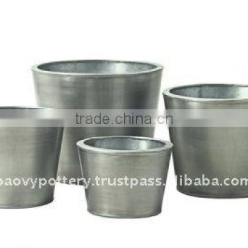 AWL Galvanized zinc vase,Galvanized zinc watering can , Zinc Pot Planter, zinc planter for gardening and household