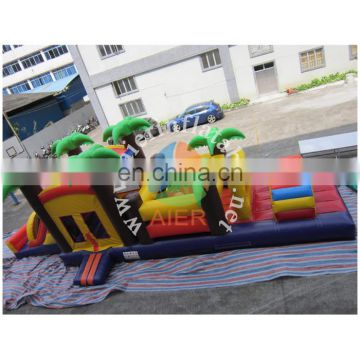 palm Inflatable Obstacle Course, high quality inflatable Guangzhou