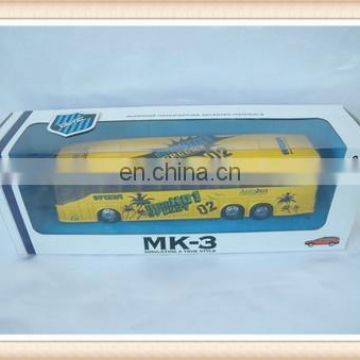 pull back die cast metal toy bus