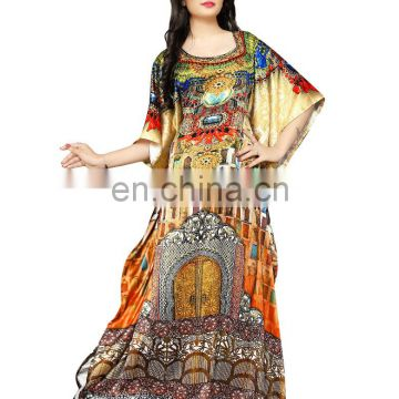 High Quality 3D Digital Printed Women's Casual Party Wear Kaftans 2017