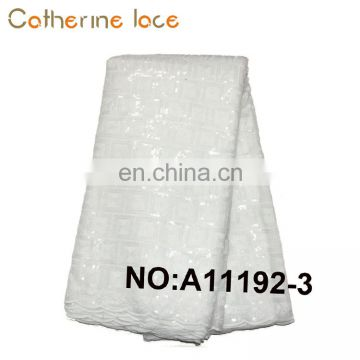 Catherine Wholesale White Embroidery Swiss Guipure Voile Lace Fabric