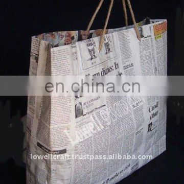 recycle newspaper shopping bag