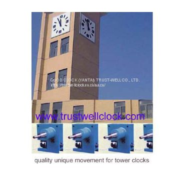 four 4 faces tower building clocks with GPS Synchronization