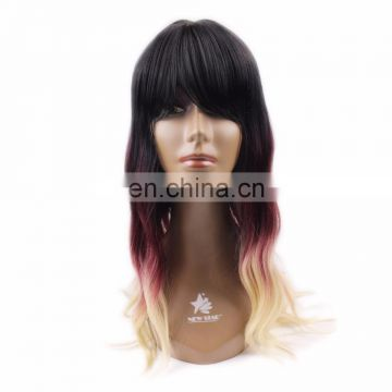 alibaba wholesale 2018 new arrival cheap price colorful human hair wig for black woman