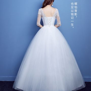 Off White Lace Wedding Dress Chiffon Long Beach