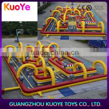 new design kart racing trace inflatables,inflatable go karts race track,outdoor race track