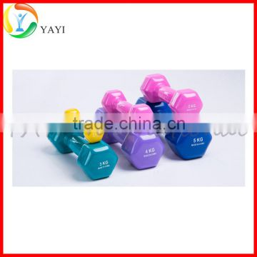 Gym Fitness Equipment Free Weight Vinyl Coated Hex Dumbbell                                                                         Quality Choice
