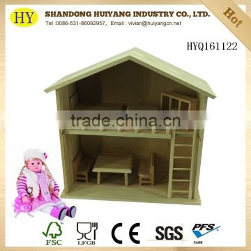 FSC wooden DIY doll house
