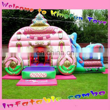 Luxury carriage inflatable pricess combo