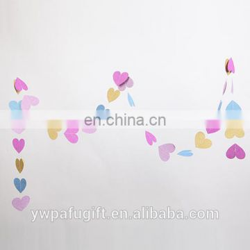 various shape colorful banner celebration party decoration