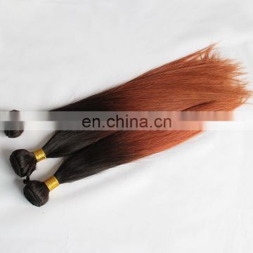 2018 best selling products indian silky straight ombre hair weave 1b/33 two color ombre hair extensions