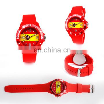 Wholesale factory silicon watch wrist watch word cup sport watch