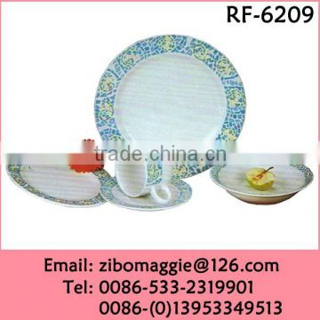Hot Sale Wholesale Custom Made Round Porcelain Dinner Set Tableware Made in China