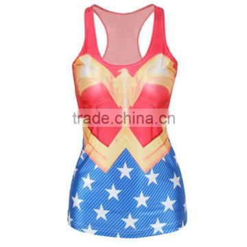 OEKOTEX-CERTIFICATE Factory Custom polyester sublimation printing sleeveless shirt