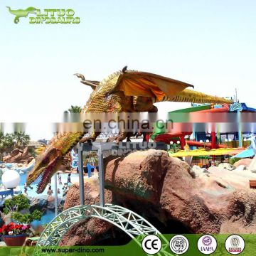 Outdoor Playground Decoration Robotic Dragon Model